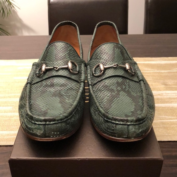 51b4a8fd07a Gucci Other - Gucci Python Loafer with horsebit buckle